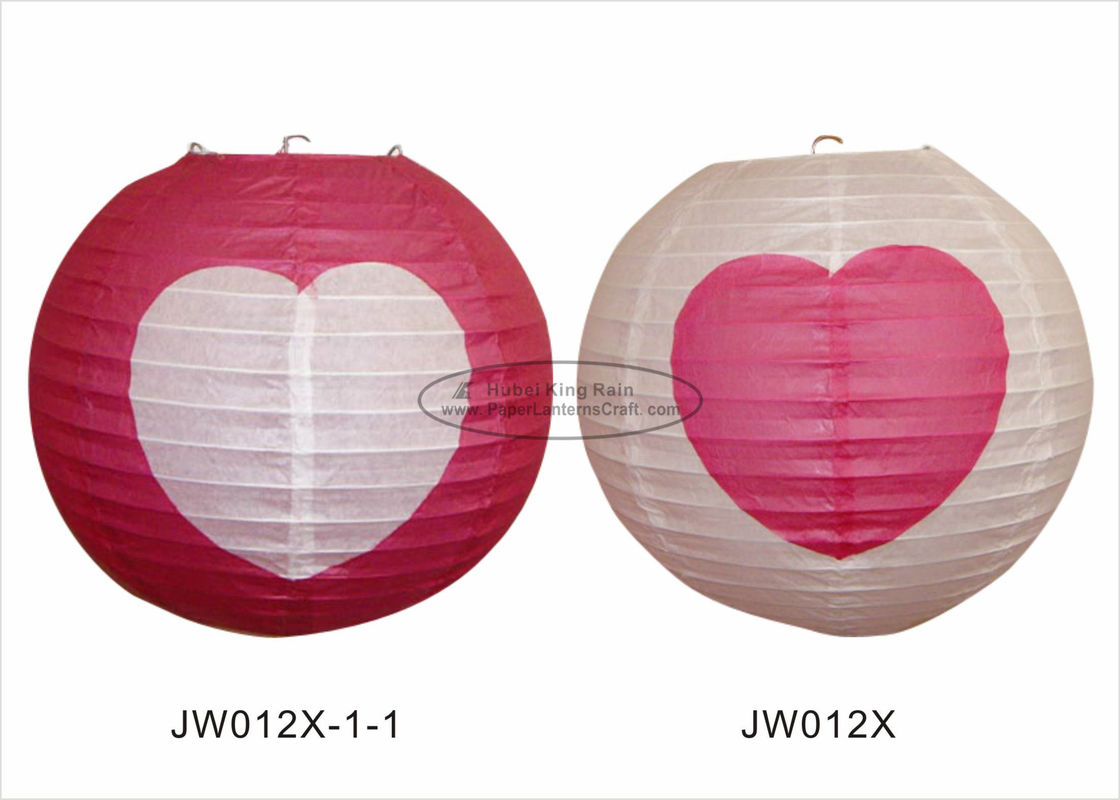 Decorative Hanging Colored Chinese Paper Lanterns With Lights For Weddings